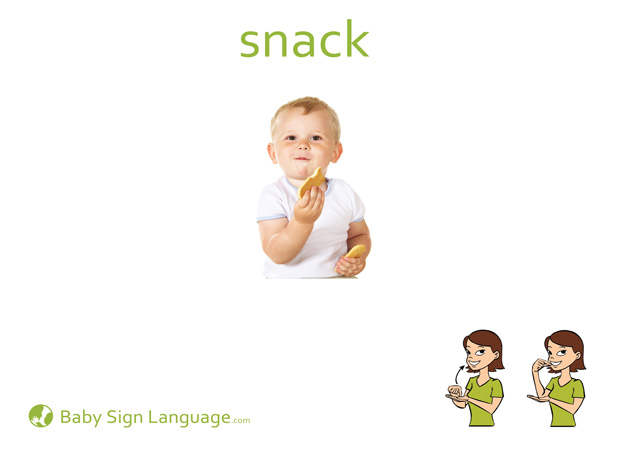 image about Baby Sign Language Flash Cards Printable identify Snack