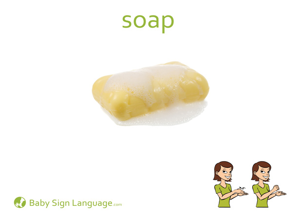 Soap Baby Sign Language Flash card