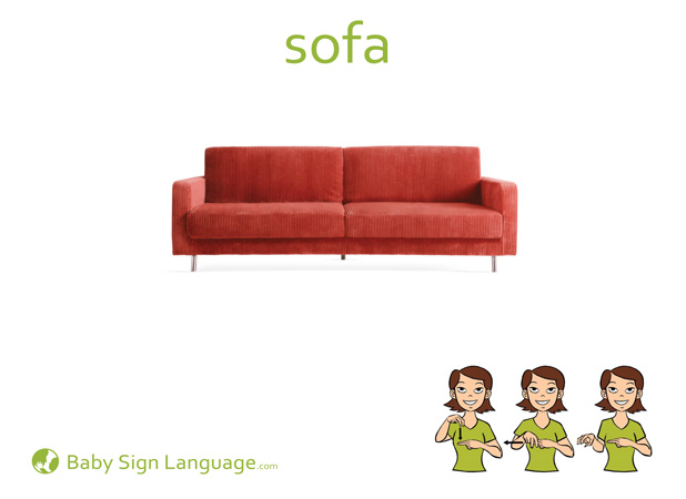 Sofa Baby Sign Language Flash card