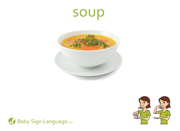 Soup Baby Sign Language Flash card