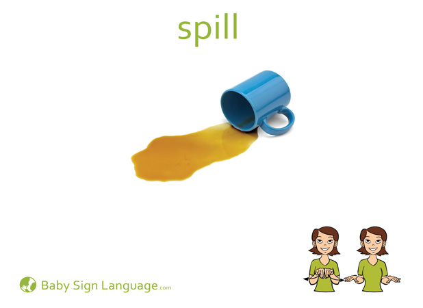 Spill Baby Sign Language Flash card