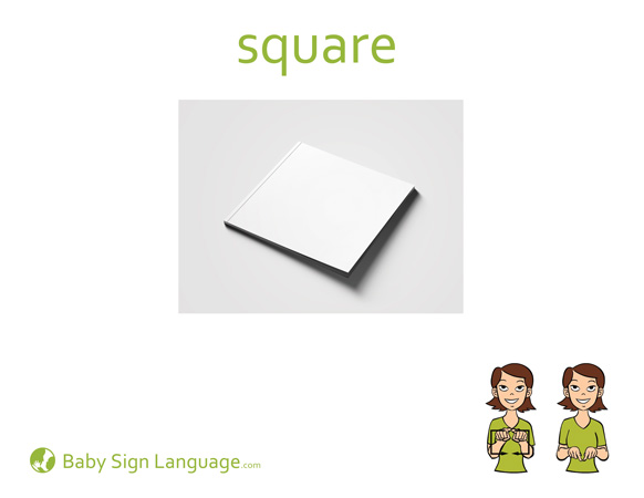 Square Baby Sign Language Flash card