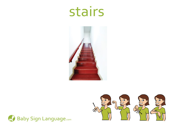Stairs Baby Sign Language Flash card