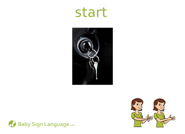 Start Baby Sign Language Flash card