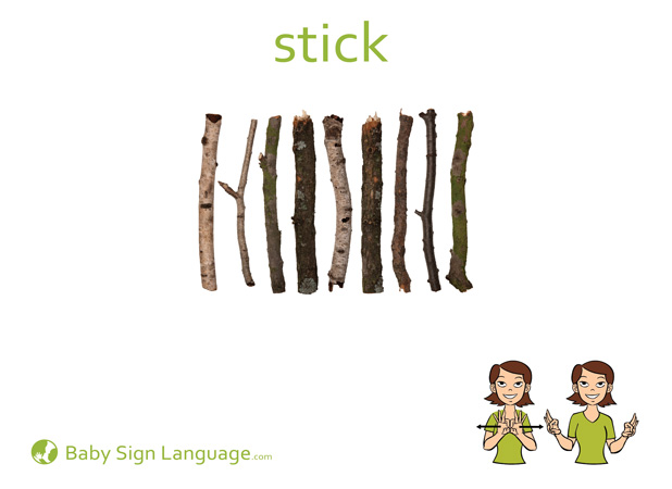 Stick Baby Sign Language Flash card