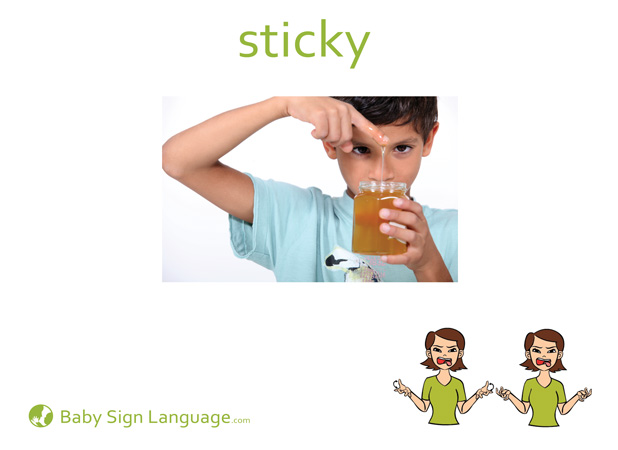 Sticky Baby Sign Language Flash card