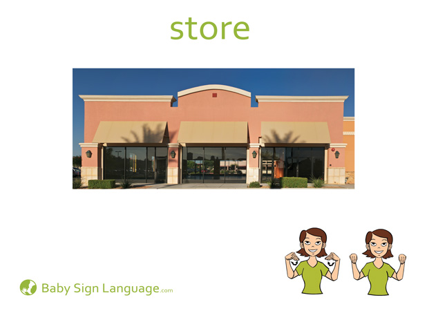 Store Baby Sign Language Flash card