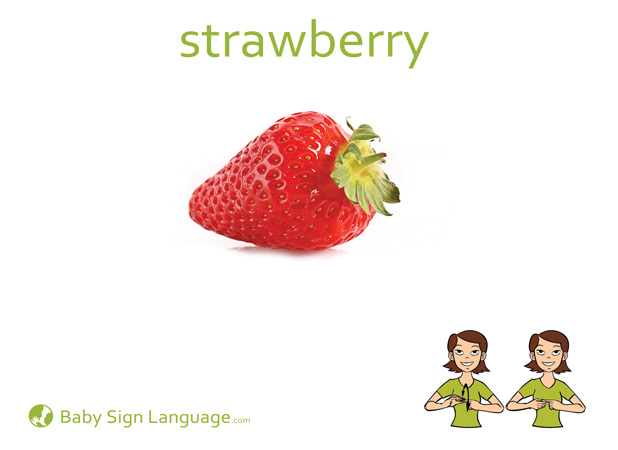 Strawberry Baby Sign Language Flash card