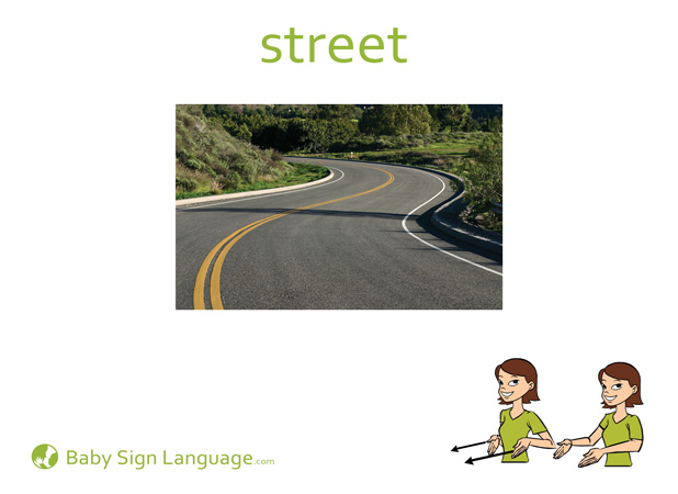 Street Baby Sign Language Flash card