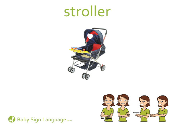 Stroller Baby Sign Language Flash card
