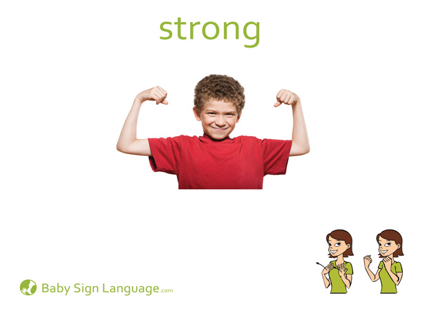 Strong Baby Sign Language Flash card