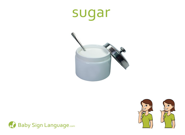 Sugar Baby Sign Language Flash card