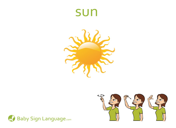 Sun Baby Sign Language Flash card