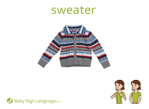 Sweater Baby Sign Language Flash card