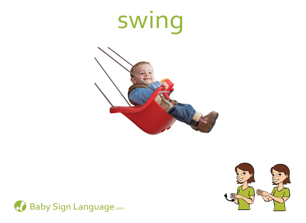 Swing Baby Sign Language Flash card
