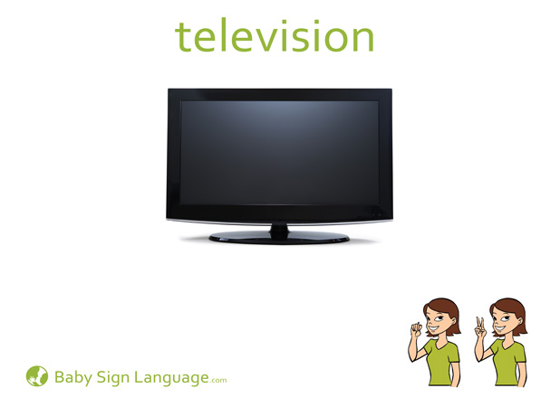 Television Baby Sign Language Flash card