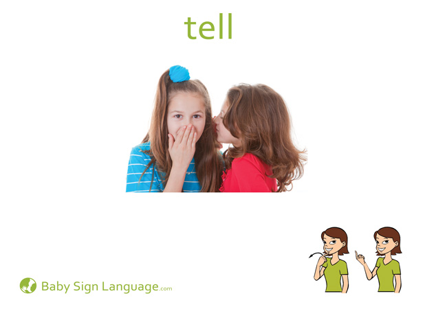 Tell Baby Sign Language Flash card