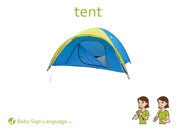 Tent Baby Sign Language Flash card
