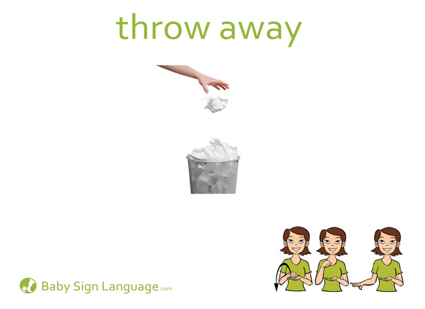 Throw_away Baby Sign Language Flash card