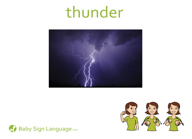Thunder Baby Sign Language Flash card