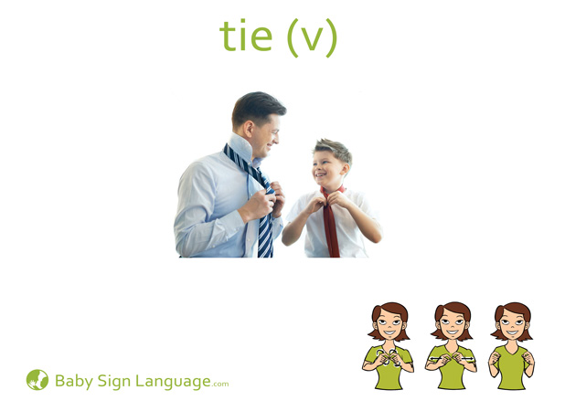 Tie Baby Sign Language Flash card