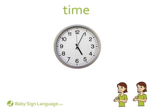 Time Baby Sign Language Flash card