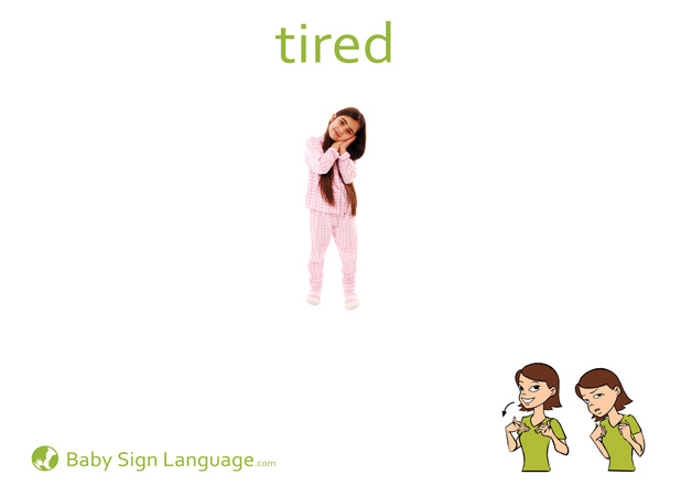 Tired Baby Sign Language Flash card