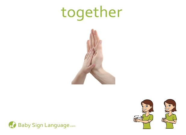 Together Baby Sign Language Flash card