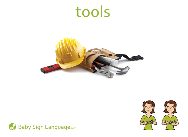Tools Baby Sign Language Flash card
