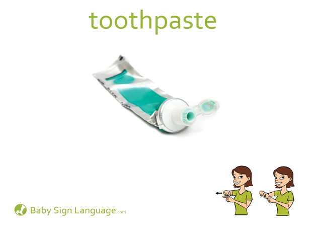 Toothpaste Baby Sign Language Flash card