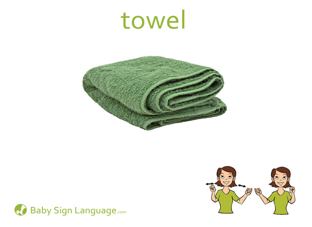 Towel Baby Sign Language Flash card