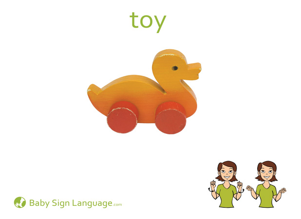 Toy Baby Sign Language Flash card