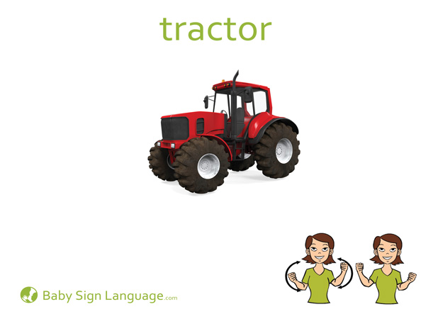 Tractor Baby Sign Language Flash card