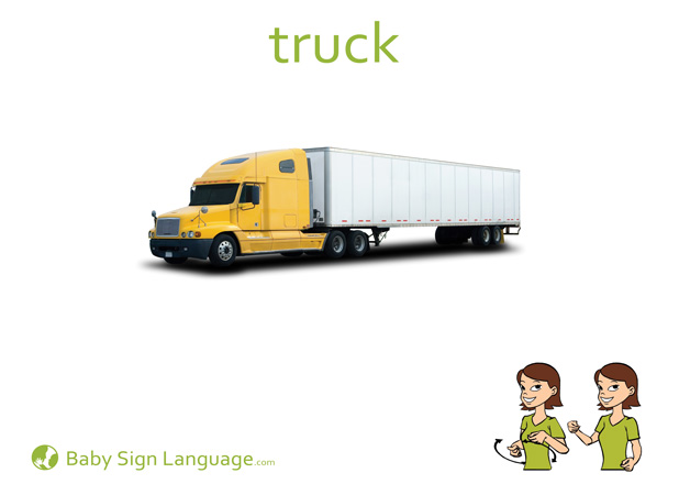 Truck Baby Sign Language Flash card