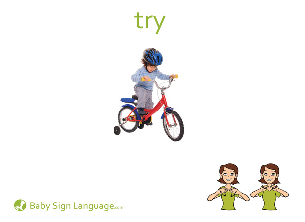 Try Baby Sign Language Flash card
