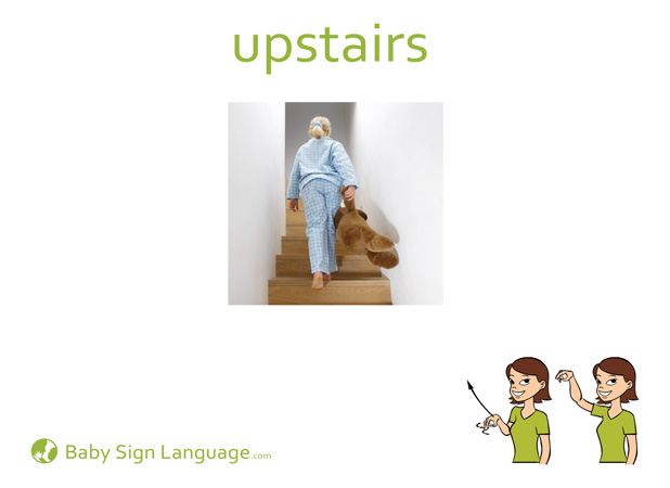 Upstairs Baby Sign Language Flash card