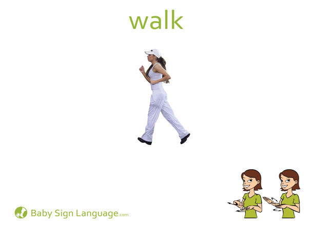Walk Baby Sign Language Flash card