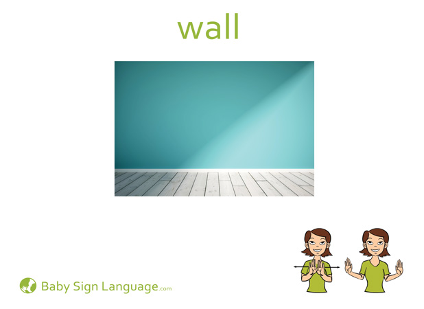 Wall Baby Sign Language Flash card