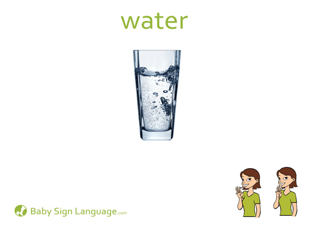 Water Baby Sign Language Flash card