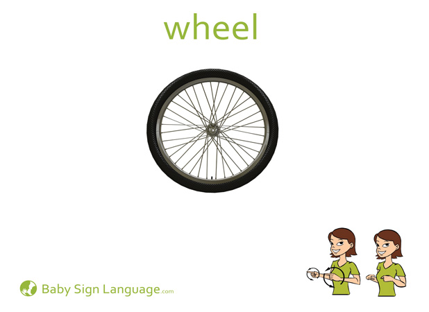 Wheel Baby Sign Language Flash card