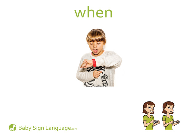 When Baby Sign Language Flash card