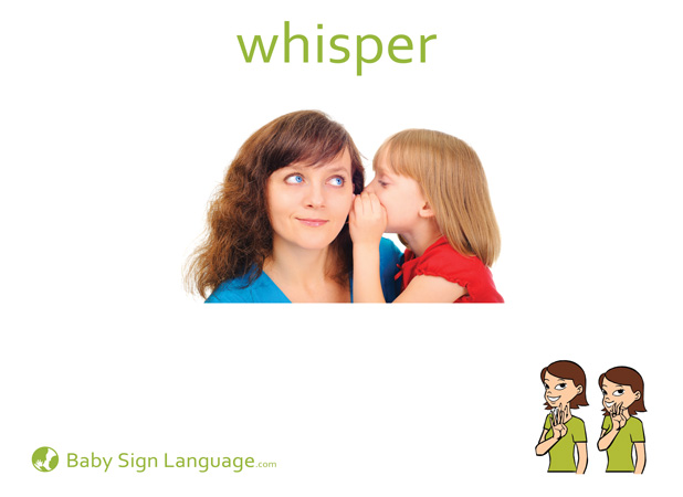 Whisper Baby Sign Language Flash card