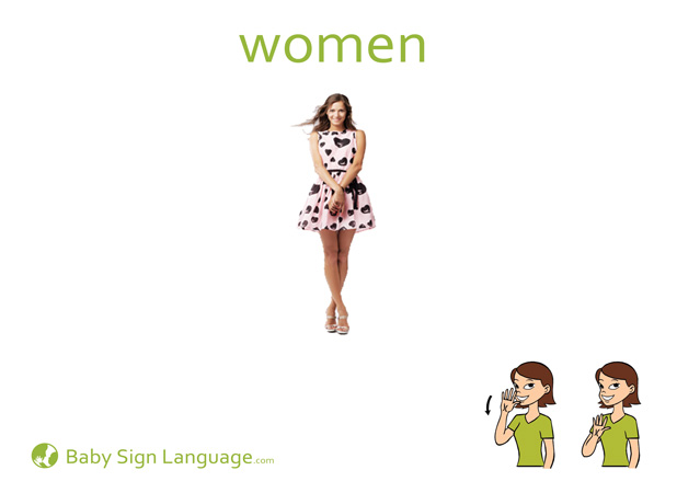 Women Baby Sign Language Flash card