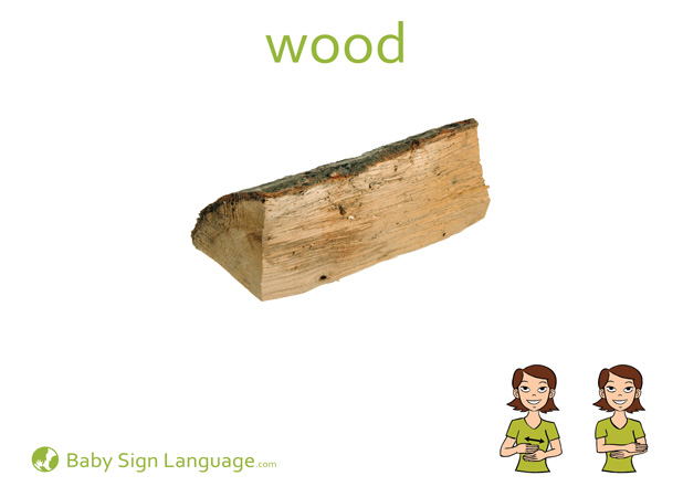 Wood Baby Sign Language Flash card