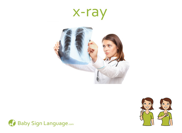 X-Ray Baby Sign Language Flash card