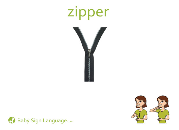 Zipper Baby Sign Language Flash card