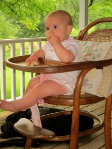 Baby Eating Squash
