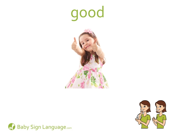 Good Baby Sign Language Flash card
