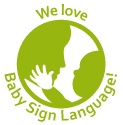 baby sign language button