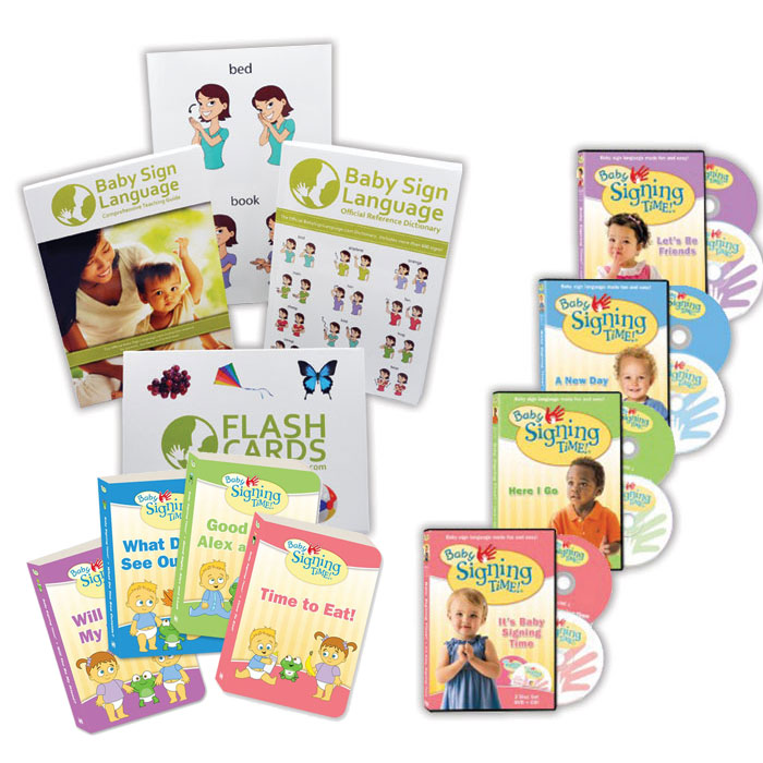 Baby Sign Language [With 128-Page Book and 64 Two-Sided Flashcards and DVD] by S